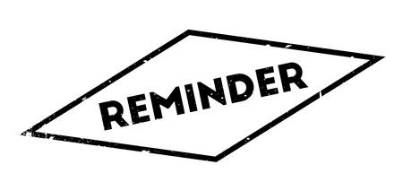 Reminder rubber stamp Ilustrace