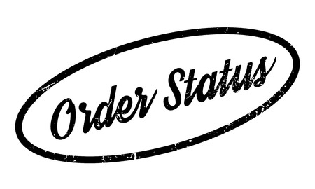 Order Status rubber stamp