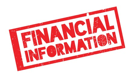 Financial Information rubber stamp