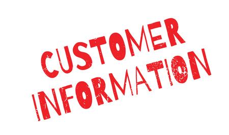 stakeholder: Customer Information rubber stamp