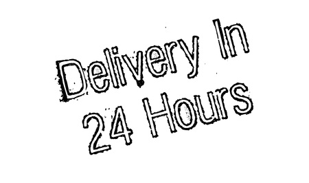 Delivery In 24 Hours rubber stamp