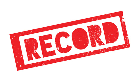 Record rubber stamp Illustration