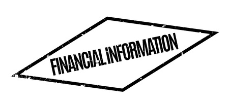 Financial Information rubber stamp Stock Vector - 75380372