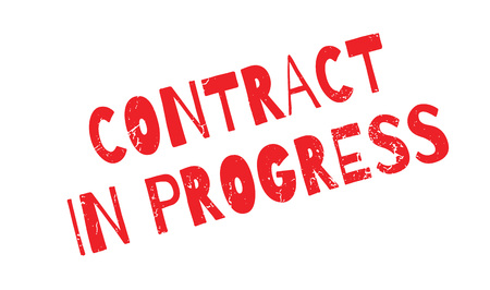 stipulation: Contract In Progress rubber stamp