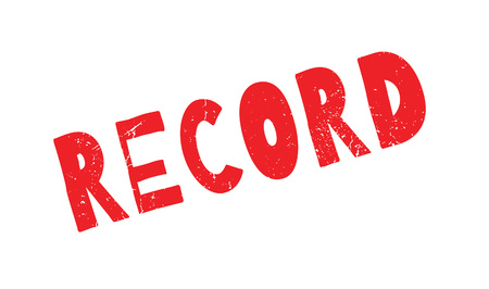 chronicle: Record rubber stamp Illustration