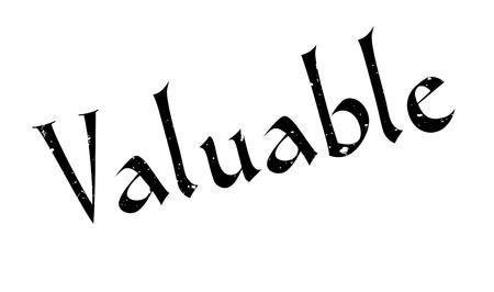 Valuable rubber stamp Illustration