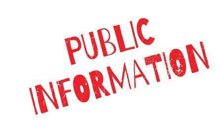 Public Information rubber stamp Illustration