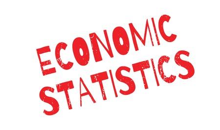 crunches: Economic Statistics rubber stamp Illustration
