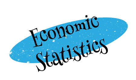 Economic Statistics rubber stamp Illustration