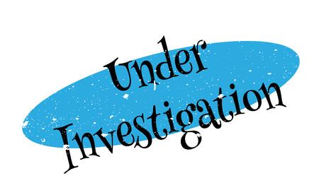 inquest: Under Investigation rubber stamp Illustration