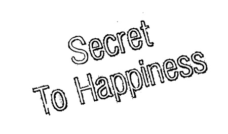 style advice: Secret To Happiness rubber stamp
