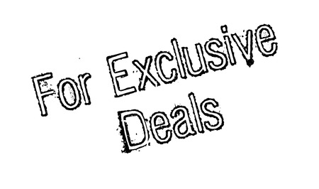 For Exclusive Deals rubber stamp Illustration