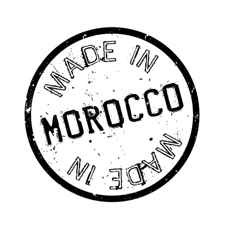 made manufacture manufactured: Made In Morocco rubber stamp
