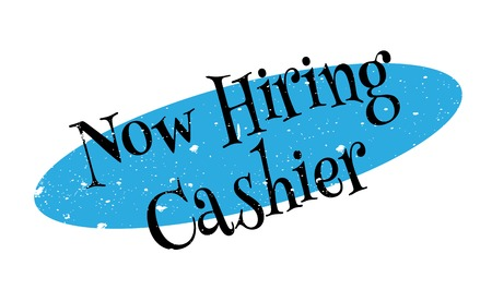 taker: Now Hiring Cashier rubber stamp