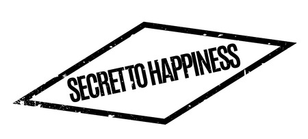 classified: Secret To Happiness rubber stamp