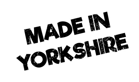 english countryside: Made In Yorkshire rubber stamp