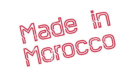 innovate: Made In Morocco rubber stamp