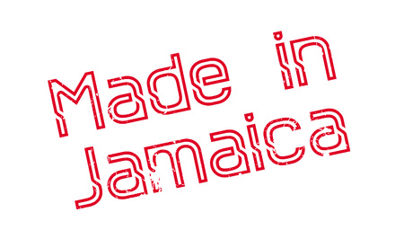 Made In Jamaica rubber stamp