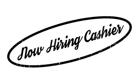 Now Hiring Cashier rubber stamp
