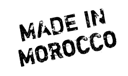 Made In Morocco rubber stamp