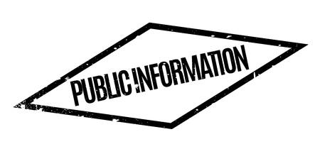 unrestricted: Public Information rubber stamp Illustration