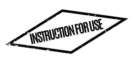 grounding: Instruction For Use rubber stamp Illustration