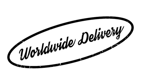 airmail stamp: Worldwide Delivery rubber stamp
