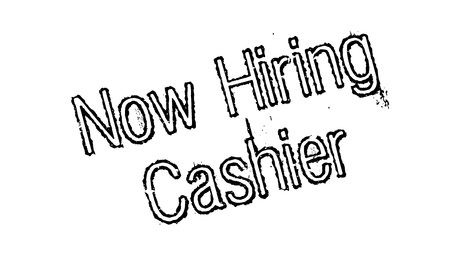 Now Hiring Cashier rubber stamp.