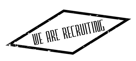 We Are Recruiting rubber stamp
