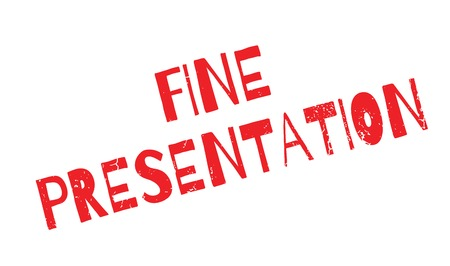 Fine Presentation rubber stamp Stock Photo