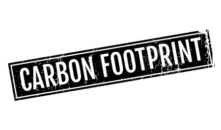 unsustainable: Carbon Footprint rubber stamp