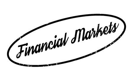 Financial Markets rubber stamp Stock Photo