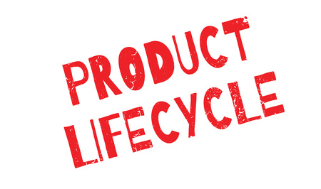 Product Lifecycle rubber stamp Stock Photo