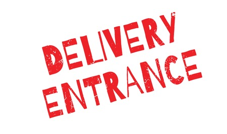 Delivery Entrance rubber stamp