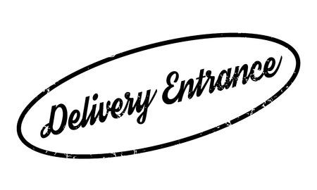Delivery Entrance rubber stamp