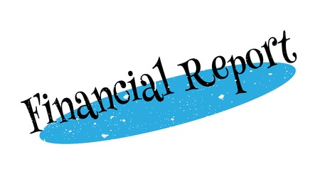 Financial Report rubber stamp