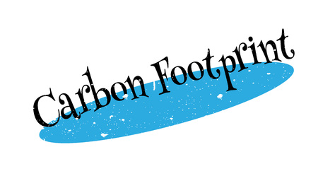 unethical: Carbon Footprint rubber stamp