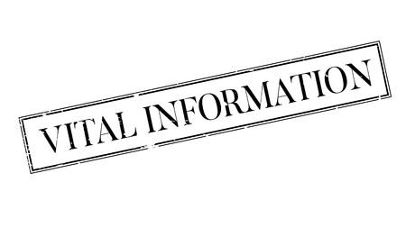 constitutive: Vital Information rubber stamp
