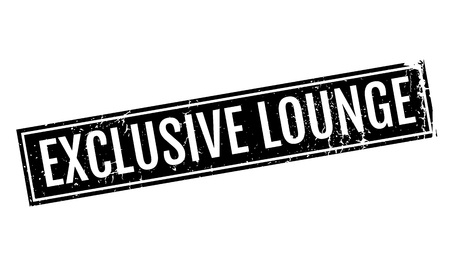 segregated: Exclusive Lounge rubber stamp