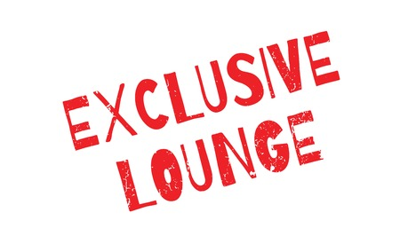 Exclusive Lounge rubber stamp