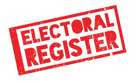 local council election: Electoral Register rubber stamp
