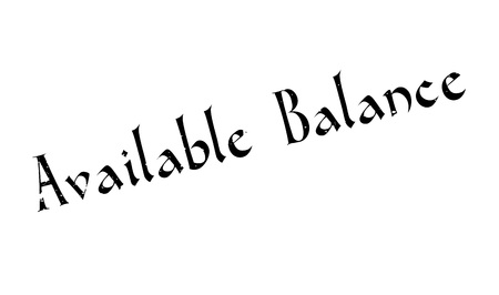 serviceable: Available Balance rubber stamp