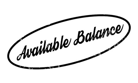 Available Balance rubber stamp