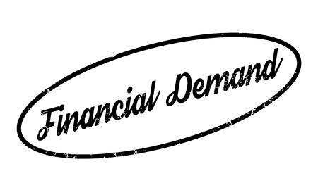 Financial Demand rubber stamp