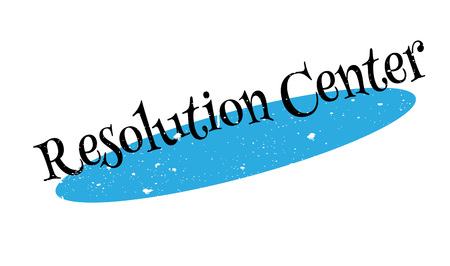 Resolution Center rubber stamp