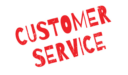 Customer Service rubber stamp
