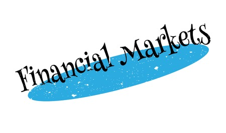 Financial Markets rubber stamp. Grunge design with dust scratches. Effects can be easily removed for a clean, crisp look. Color is easily changed.