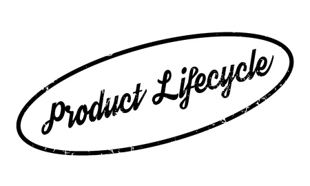Product Lifecycle rubber stamp. Grunge design with dust scratches. Effects can be easily removed for a clean, crisp look. Color is easily changed. Illustration