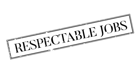 Respectable Jobs rubber stamp. Grunge design with dust scratches. Effects can be easily removed for a clean, crisp look. Color is easily changed. Illustration