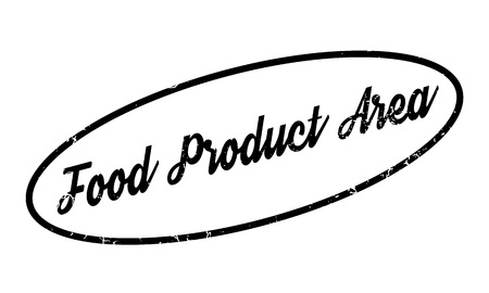 Food Product Area rubber stamp. Grunge design with dust scratches. Effects can be easily removed for a clean, crisp look. Color is easily changed. Illustration